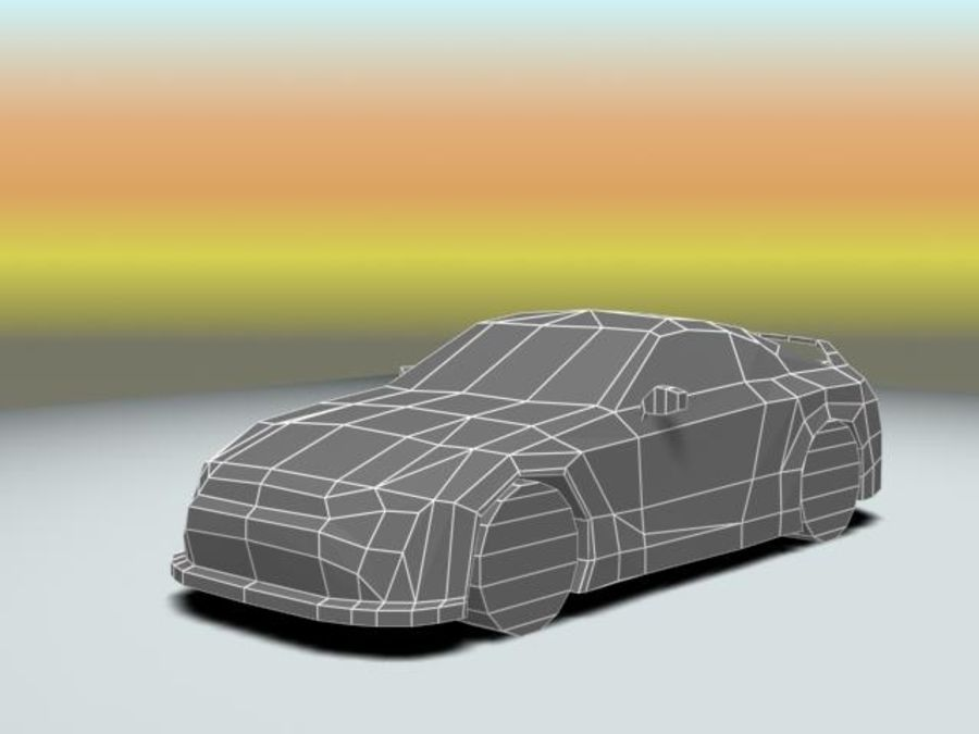 Nissan GTR 2008 (low poly) royalty-free 3d model - Preview no. 3