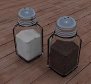 Salt and pepper shakers 3d model