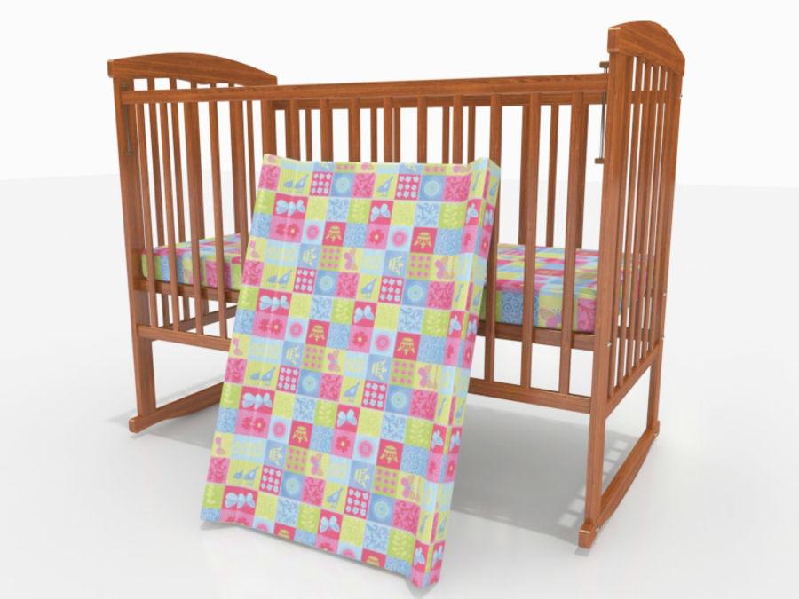 Lit bébé avec table à langer modèle 3D $22 - .max .fbx .dwg ...