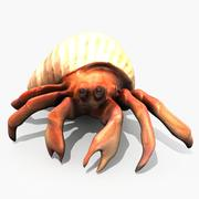 Hermit Crab 3d model