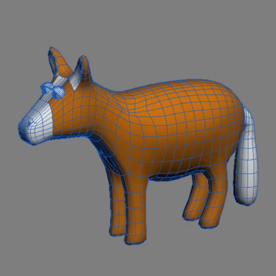 Tiere Pferd royalty-free 3d model - Preview no. 3