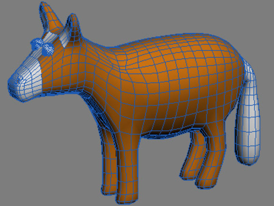Tiere Pferd royalty-free 3d model - Preview no. 2
