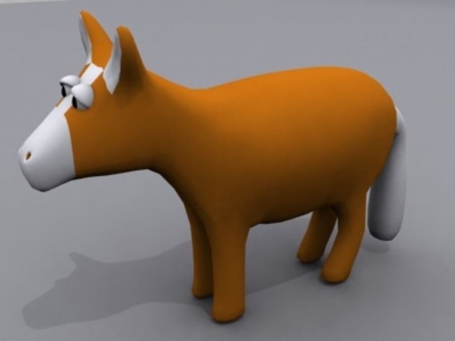 Tiere Pferd royalty-free 3d model - Preview no. 1