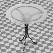 Restaurant Table (Glass) 3d model