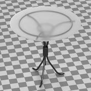 Restauranttafel (glas) 3d model