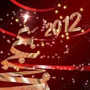 Christmas tree Gold 3d model