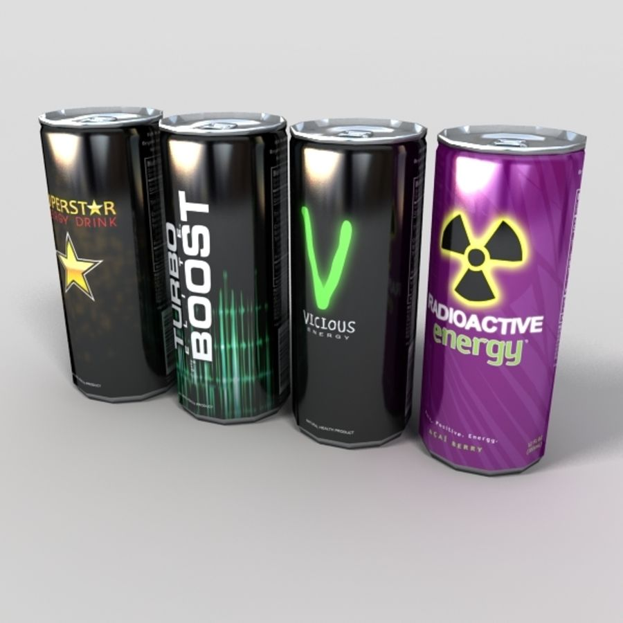 energy drinks royalty-free 3d model - Preview no. 6