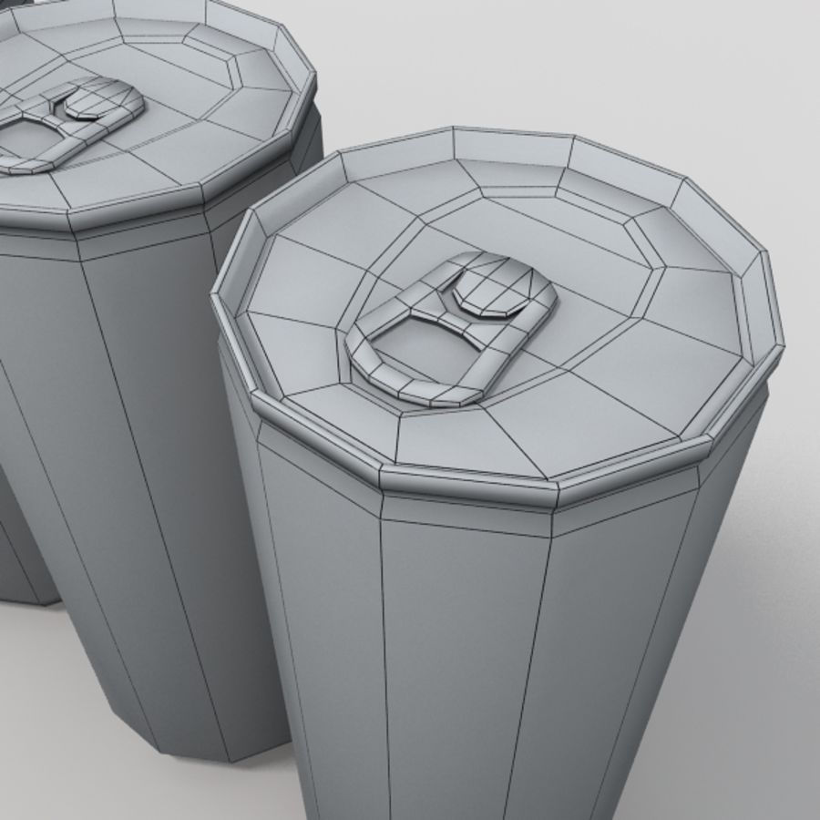 energy drinks royalty-free 3d model - Preview no. 7