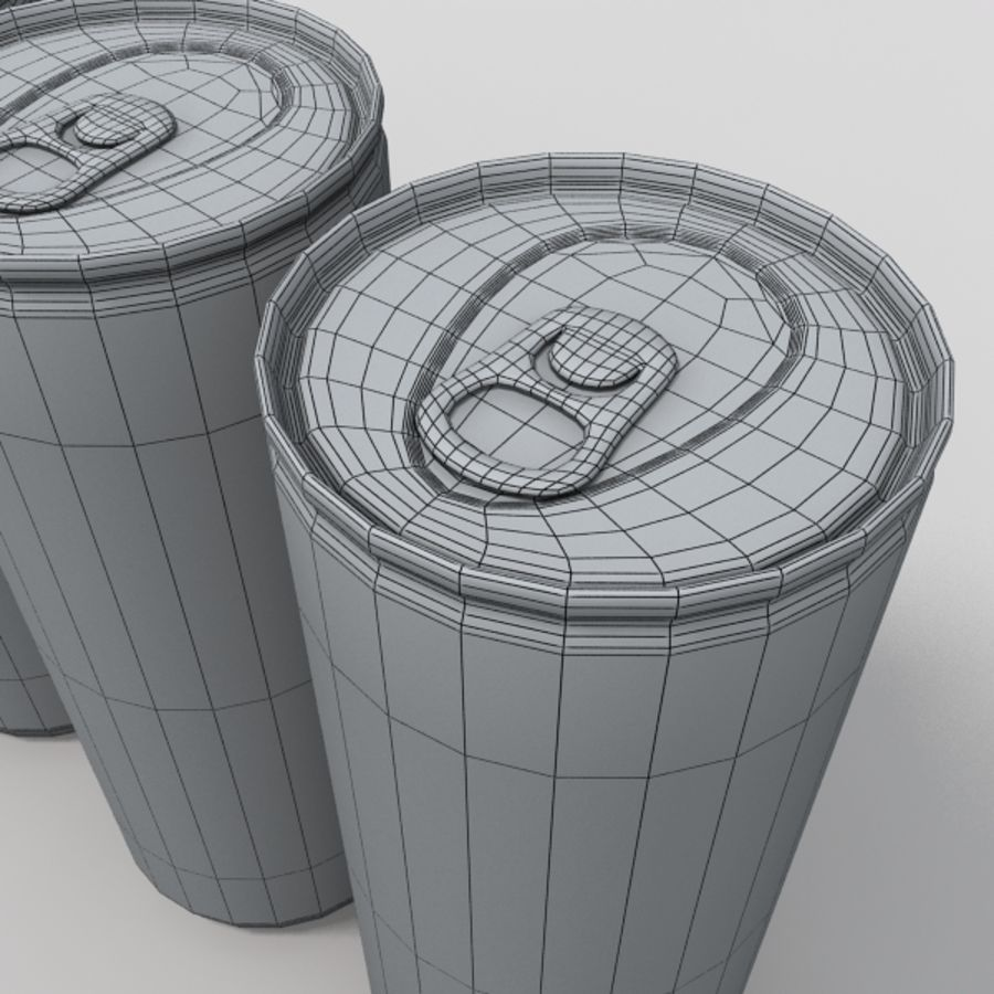 energy drinks royalty-free 3d model - Preview no. 5