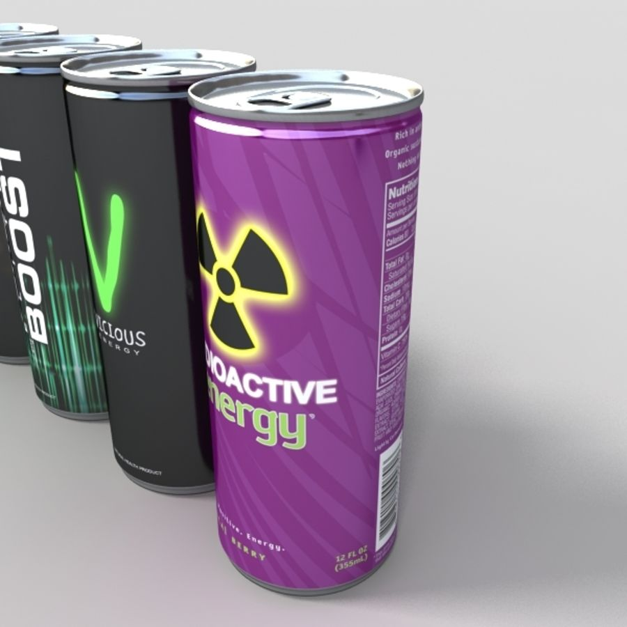energy drinks royalty-free 3d model - Preview no. 2