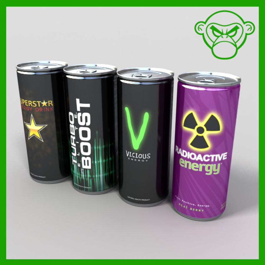 energy drinks royalty-free 3d model - Preview no. 1