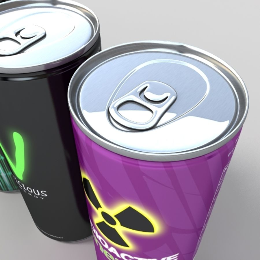 energy drinks royalty-free 3d model - Preview no. 4
