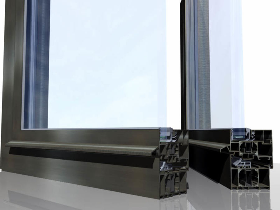 Window section royalty-free 3d model - Preview no. 1