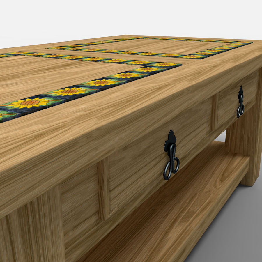 Sunflower Coffee Table/Mesa de centro Girasol royalty-free 3d model - Preview no. 3