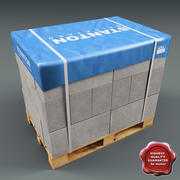 Pallet with Bricks 3d model