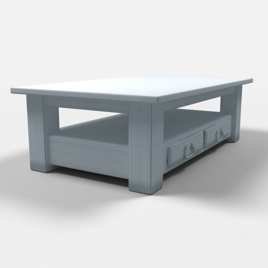 Parana Coffee Table/Mesa de centro Parana royalty-free 3d model - Preview no. 4
