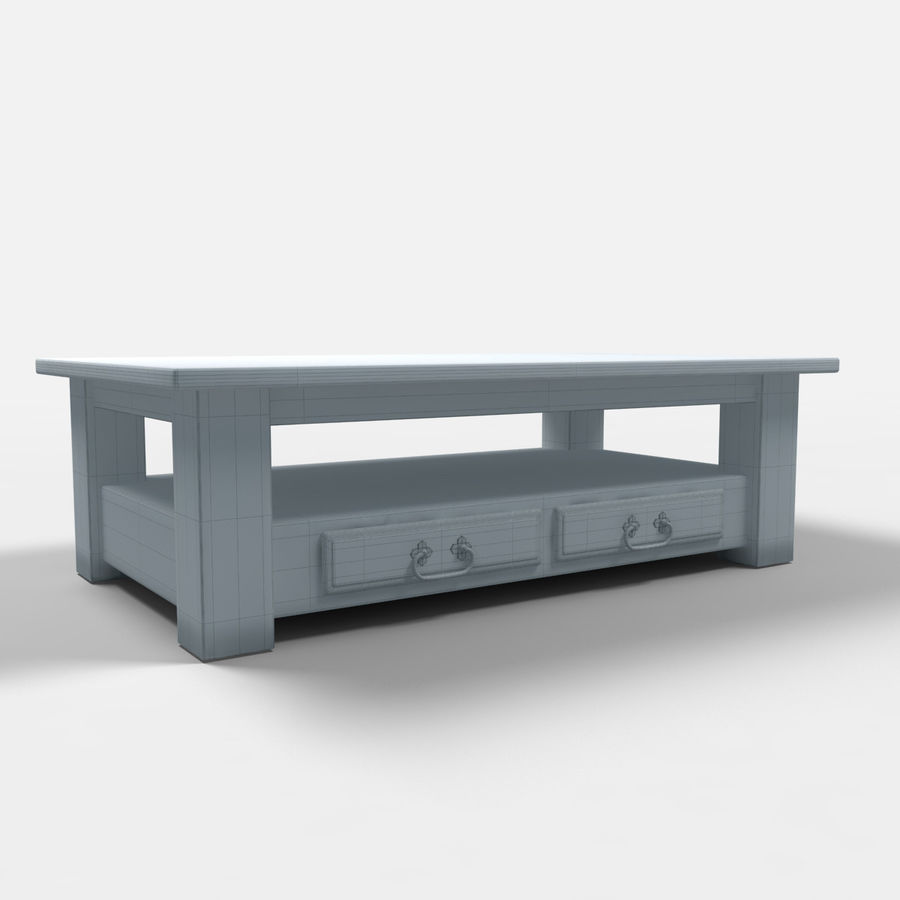 Parana Coffee Table/Mesa de centro Parana royalty-free 3d model - Preview no. 2