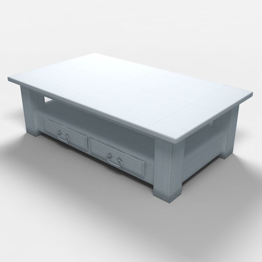 Parana Coffee Table/Mesa de centro Parana royalty-free 3d model - Preview no. 8