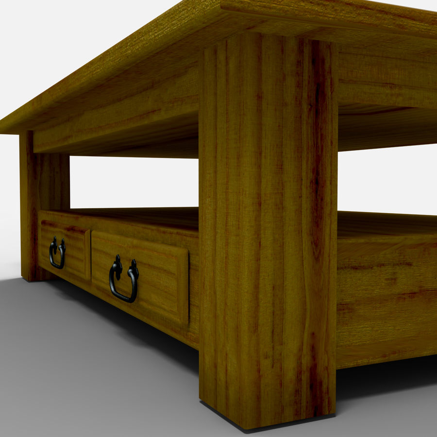 Parana Coffee Table/Mesa de centro Parana royalty-free 3d model - Preview no. 5