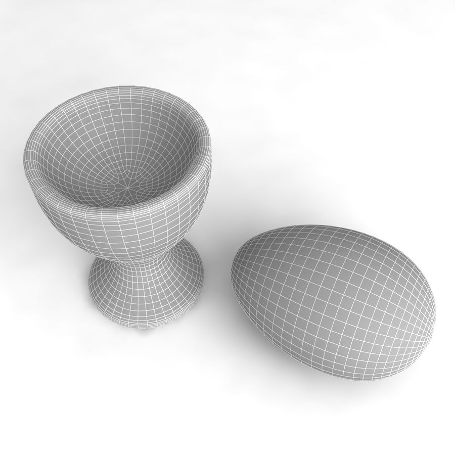 Egg Cup royalty-free 3d model - Preview no. 7
