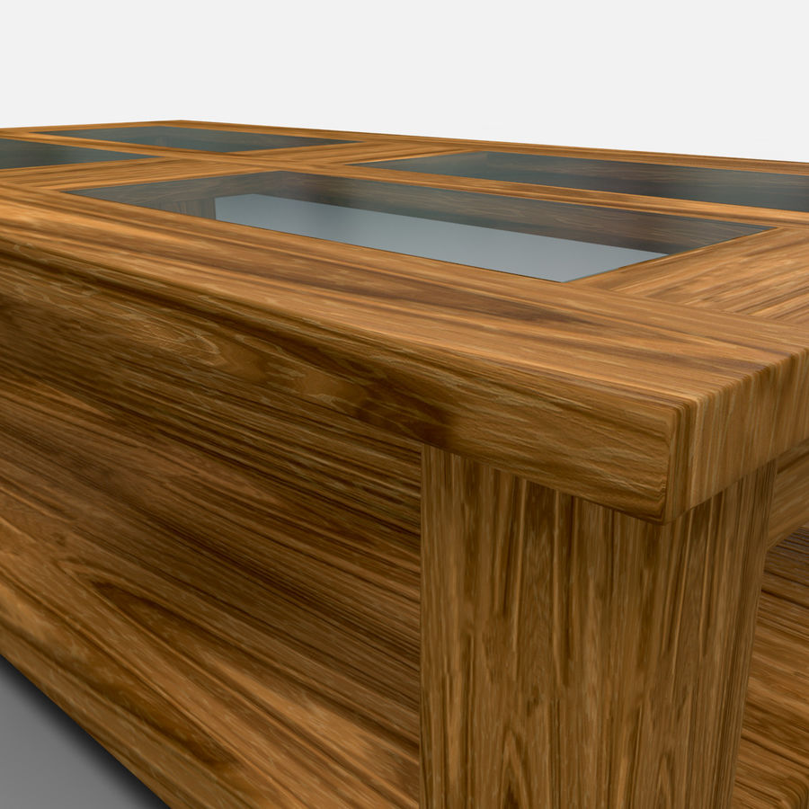 Acapulco Coffee Table/Mesa de centro Acapulco royalty-free 3d model - Preview no. 3