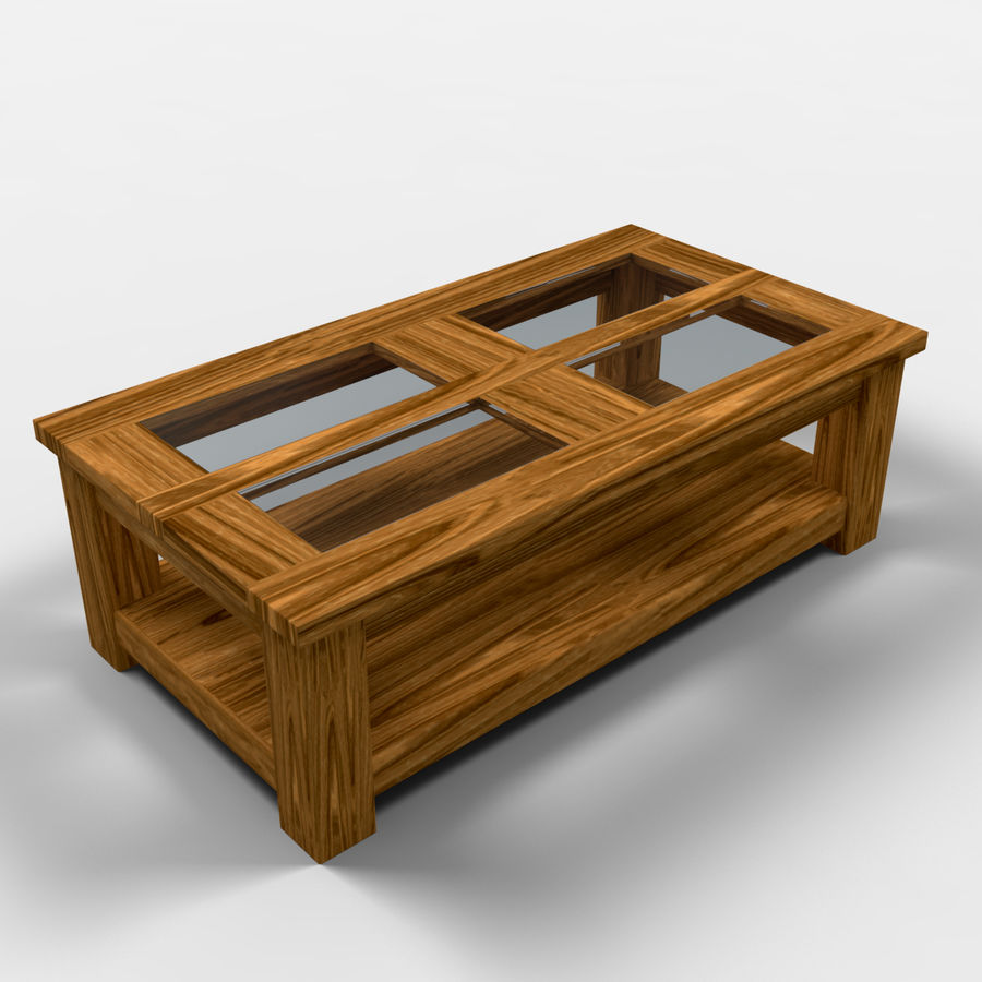 Acapulco Coffee Table/Mesa de centro Acapulco royalty-free 3d model - Preview no. 1
