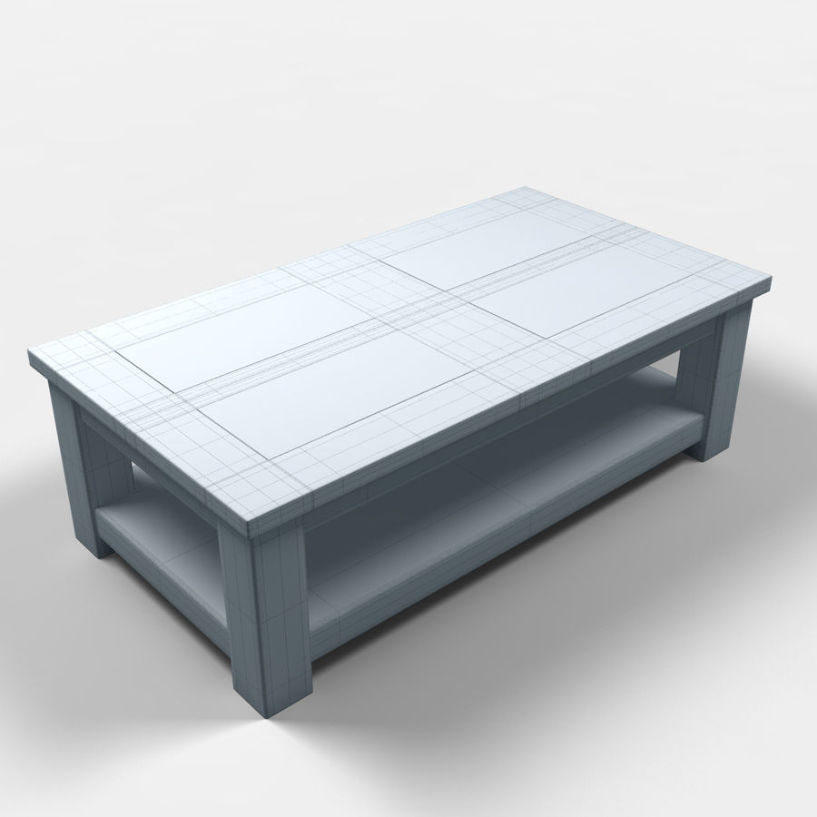 Acapulco Coffee Table/Mesa de centro Acapulco royalty-free 3d model - Preview no. 2
