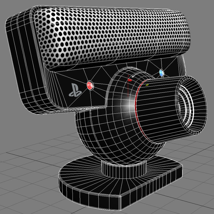 Sony PS3 Camera Eye royalty-free 3d model - Preview no. 3
