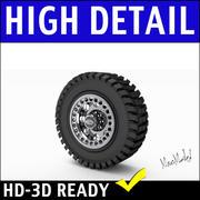 Truck Tire and Rim 3D Model 3d model