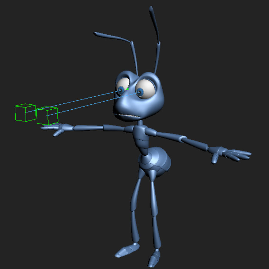 Ant (maschio) royalty-free 3d model - Preview no. 12