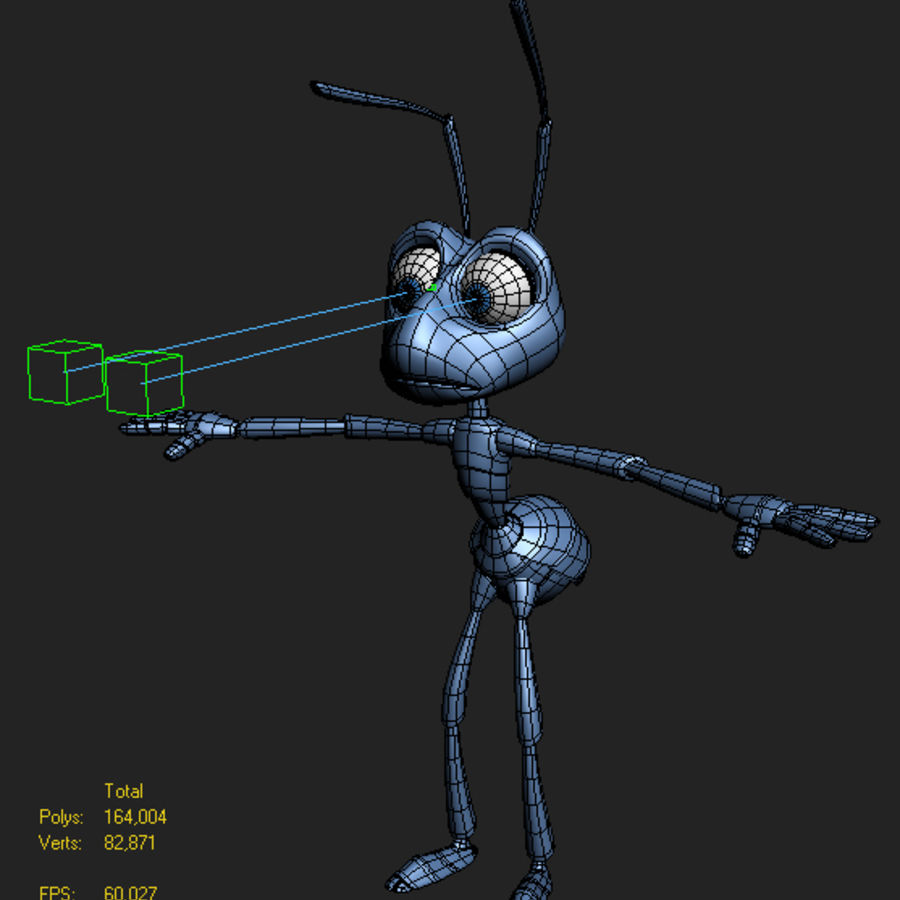 Ant (maschio) royalty-free 3d model - Preview no. 2