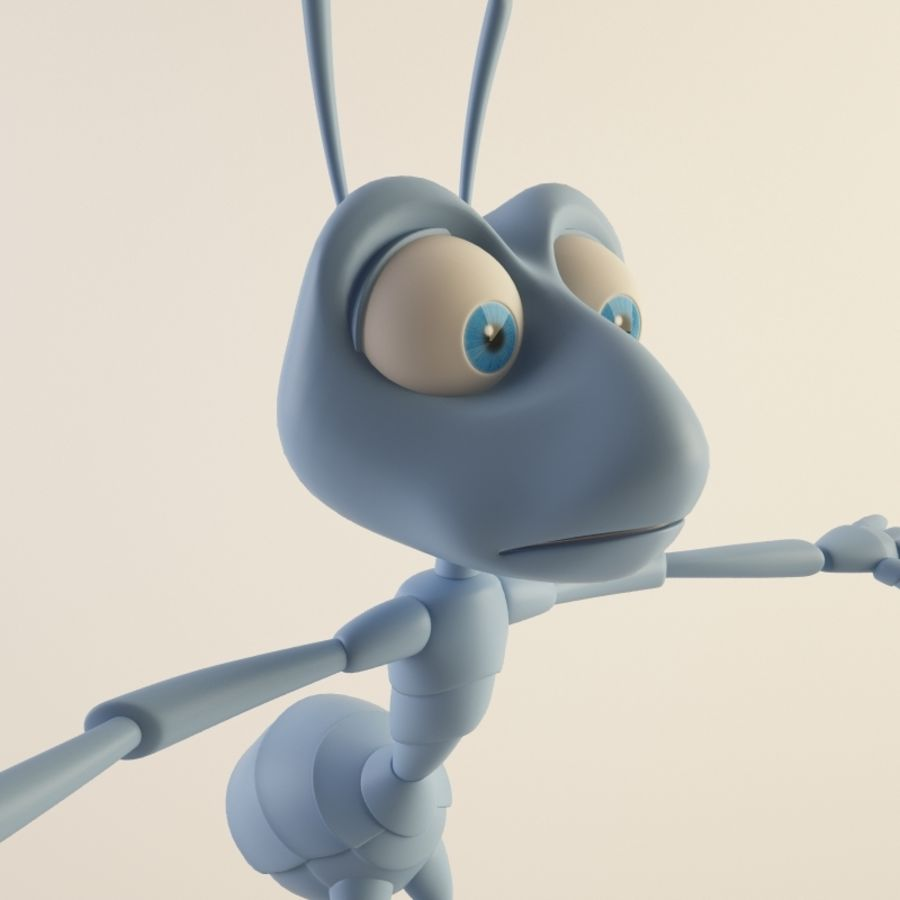 Ant (maschio) royalty-free 3d model - Preview no. 7