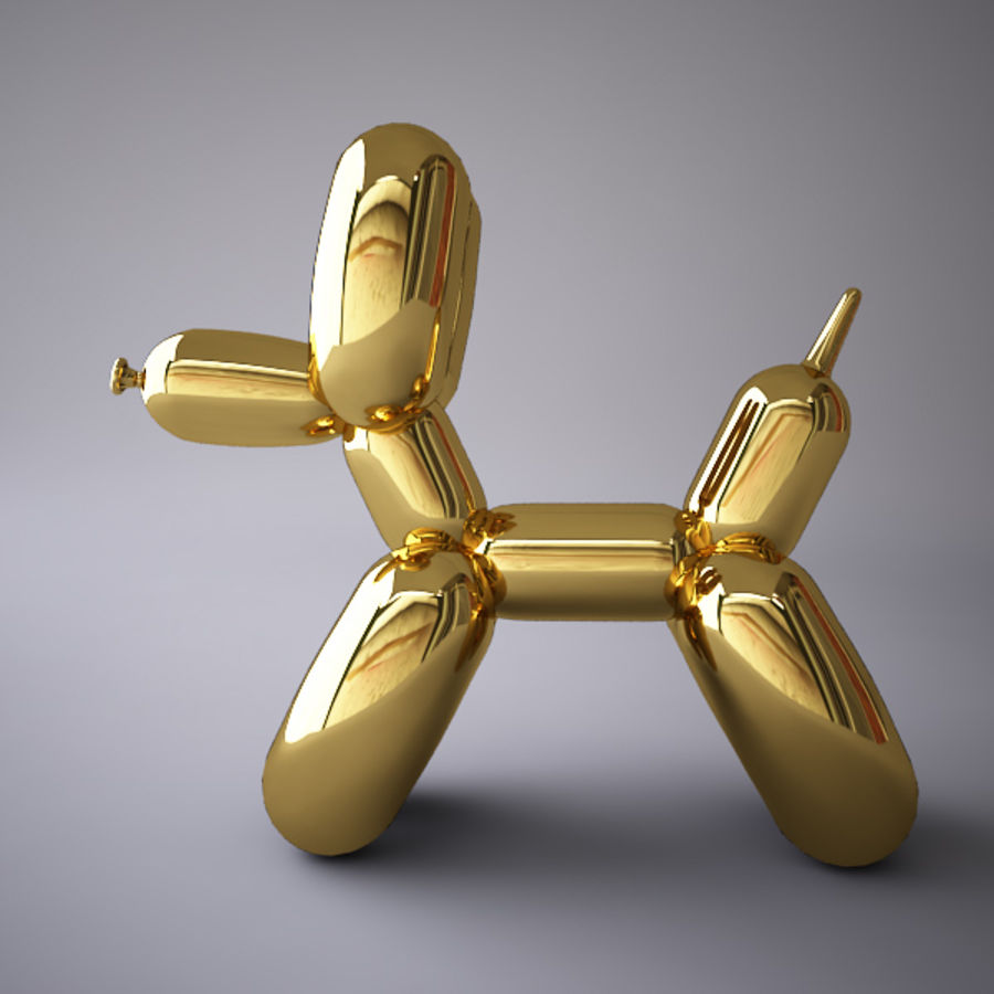 Jeff Koons Balloon Dog royalty-free 3d model - Preview no. 2