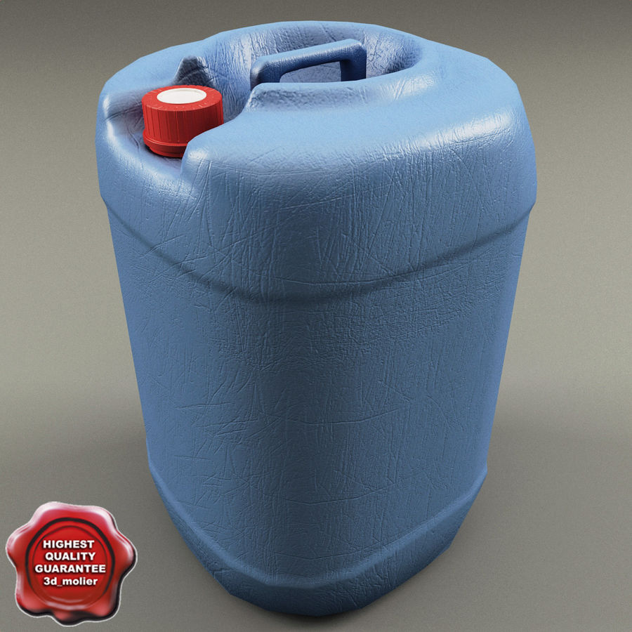 Plastic Barrel royalty-free 3d model - Preview no. 1