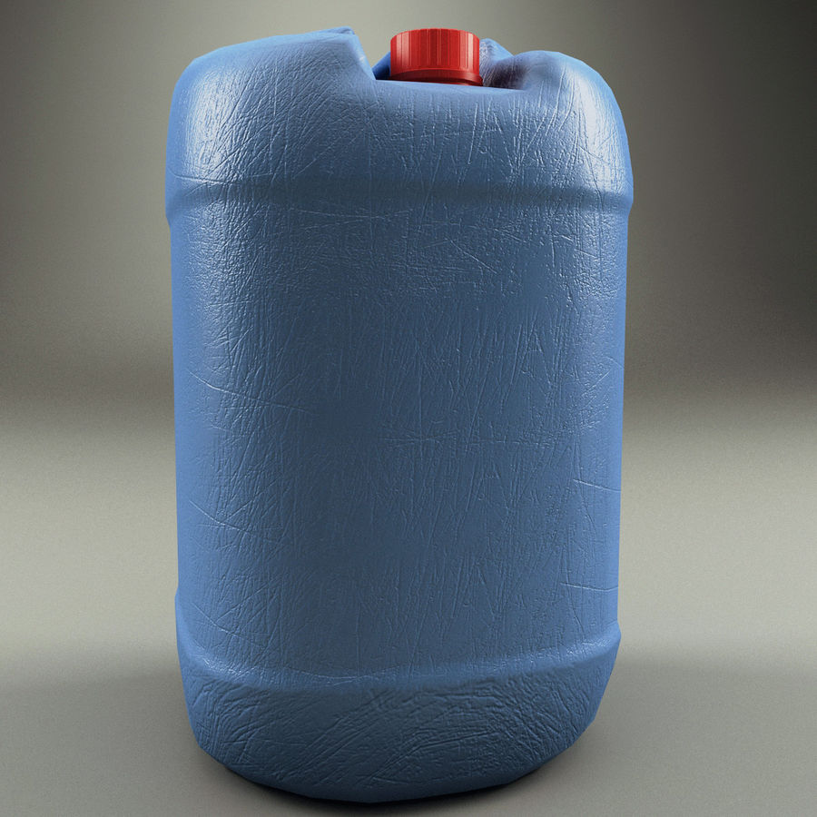 Plastic Barrel royalty-free 3d model - Preview no. 5