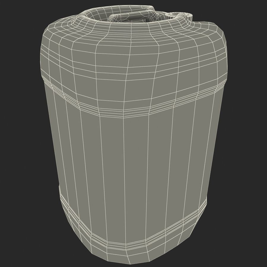 Plastic Barrel royalty-free 3d model - Preview no. 10