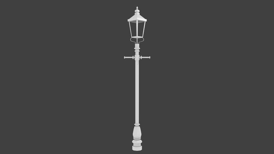 victorian lamp royalty-free 3d model - Preview no. 2