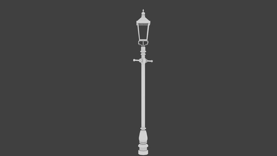 victorian lamp royalty-free 3d model - Preview no. 1