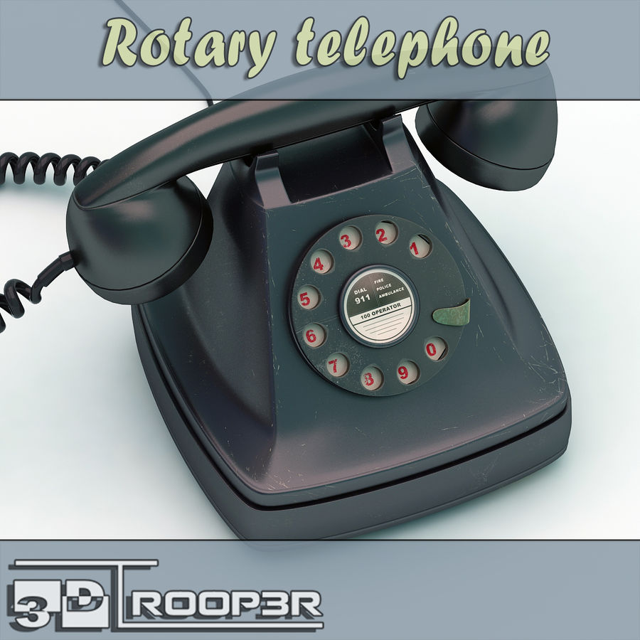 Rotary telephone royalty-free 3d model - Preview no. 1