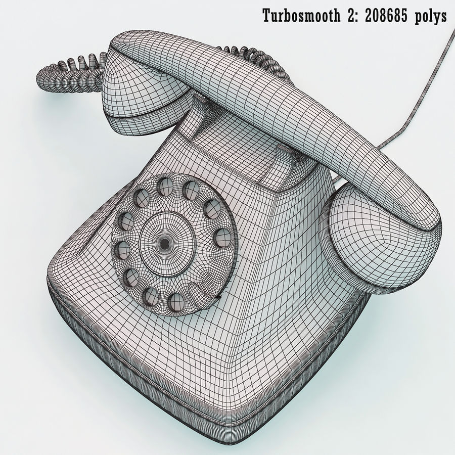 Rotary telephone royalty-free 3d model - Preview no. 7