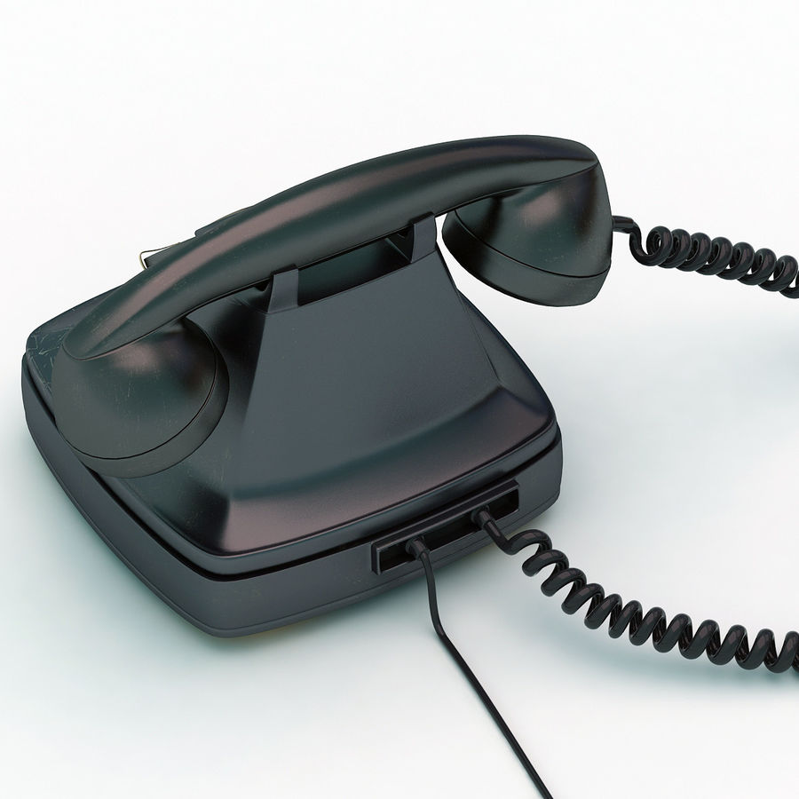 Rotary telephone royalty-free 3d model - Preview no. 6