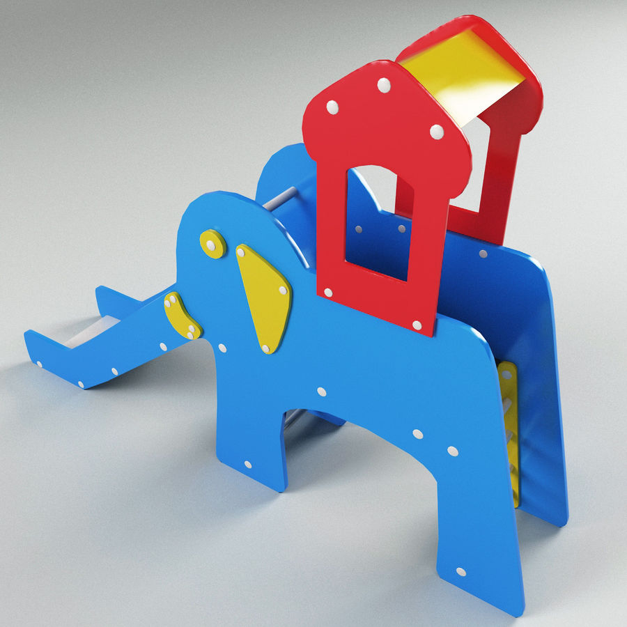 Slide Elephant royalty-free 3d model - Preview no. 7