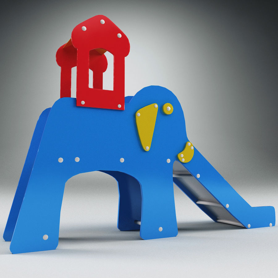 Slide Elephant royalty-free 3d model - Preview no. 4