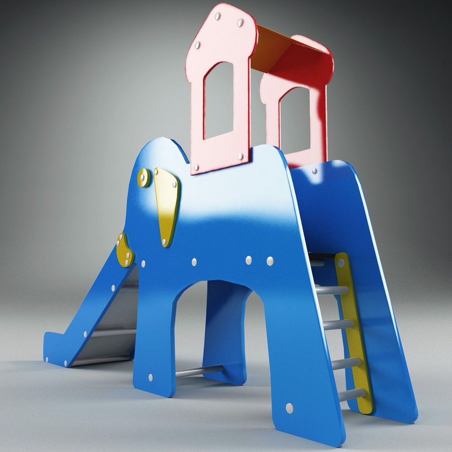 Slide Elephant royalty-free 3d model - Preview no. 3
