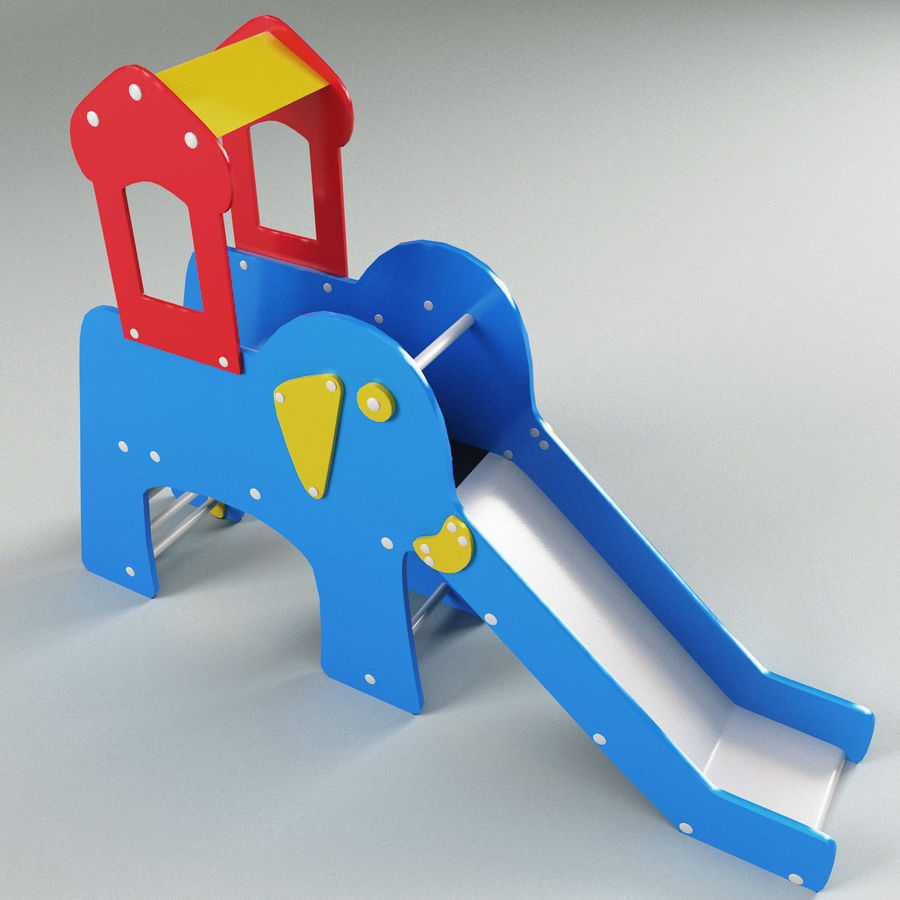Slide Elephant royalty-free 3d model - Preview no. 8