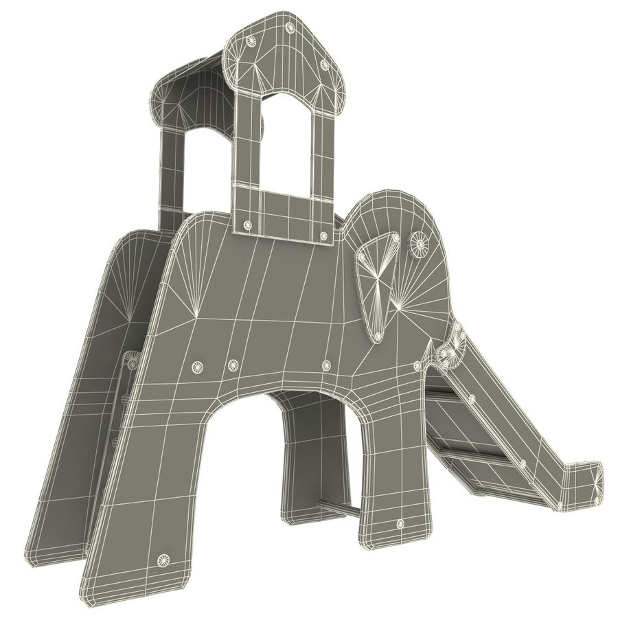 Slide Elephant royalty-free 3d model - Preview no. 10