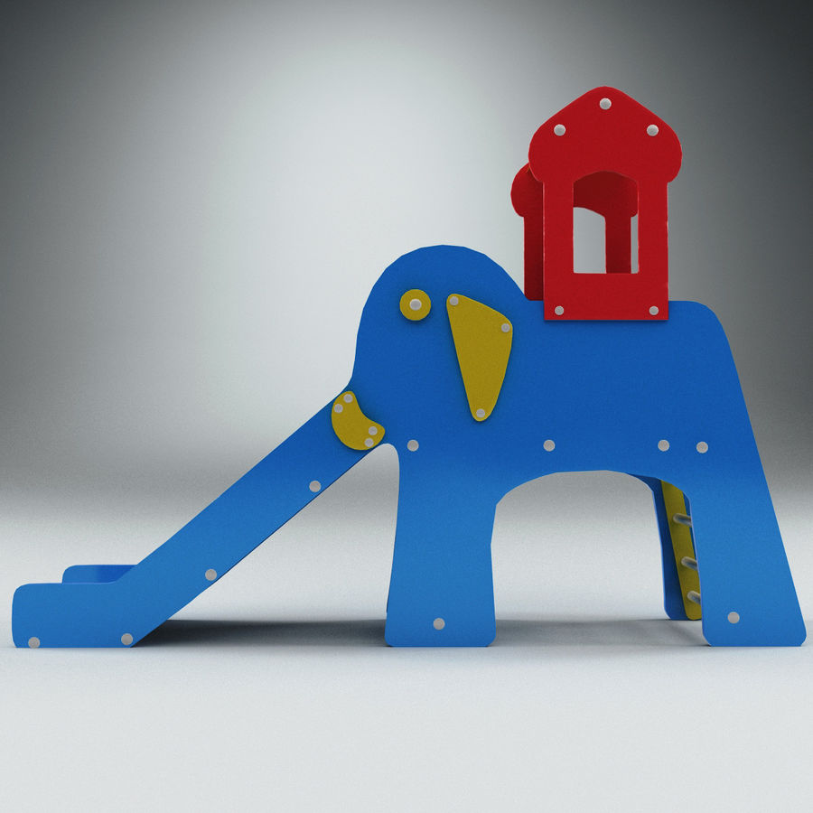 Slide Elephant royalty-free 3d model - Preview no. 2