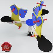 Spring Swing Dogs 3d model