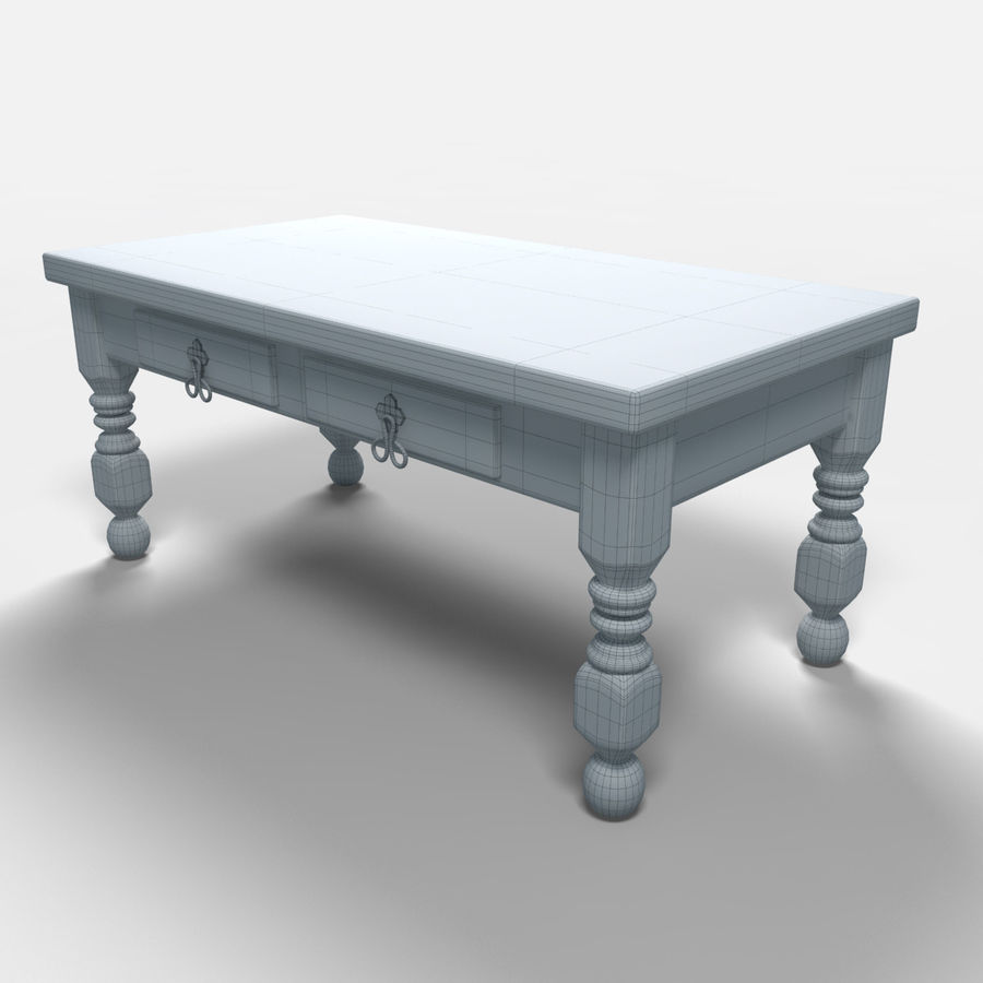 Cancun Coffee Table/Mesa de centro  Cancún royalty-free 3d model - Preview no. 6
