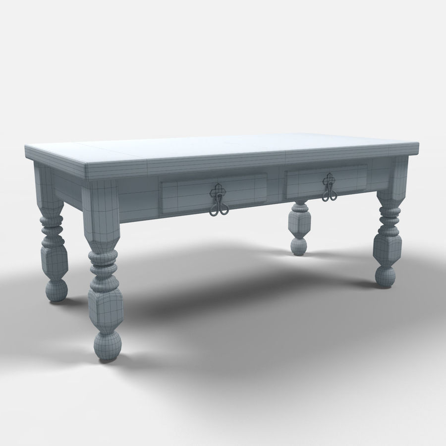 Cancun Coffee Table/Mesa de centro  Cancún royalty-free 3d model - Preview no. 2